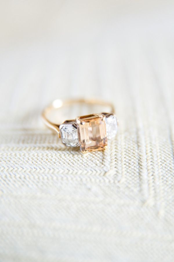 Peach sapphire: http://www.stylemepretty.com/collection/1953/