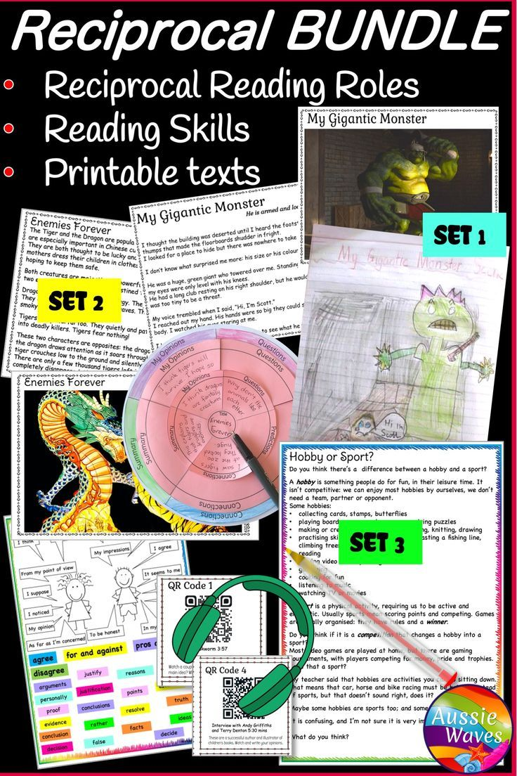This Reciprocal Reading Bundle Has Printable Texts Tasks Role Cards And Qr Codes To Improve Student Reciprocal Reading Reading Bundle Teaching Reading Skills [ 1104 x 736 Pixel ]