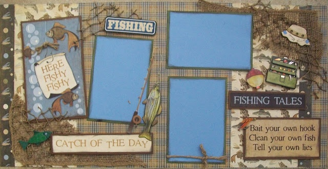Catch of the day: Scrapbook Ideas, Scrapbooking Fishing, Scrapbook Layouts, Scrapbooking Outdoors, Outdoors Layouts, Scrapbooking Ideas, Fishing Layouts, Scrapbooking Layouts