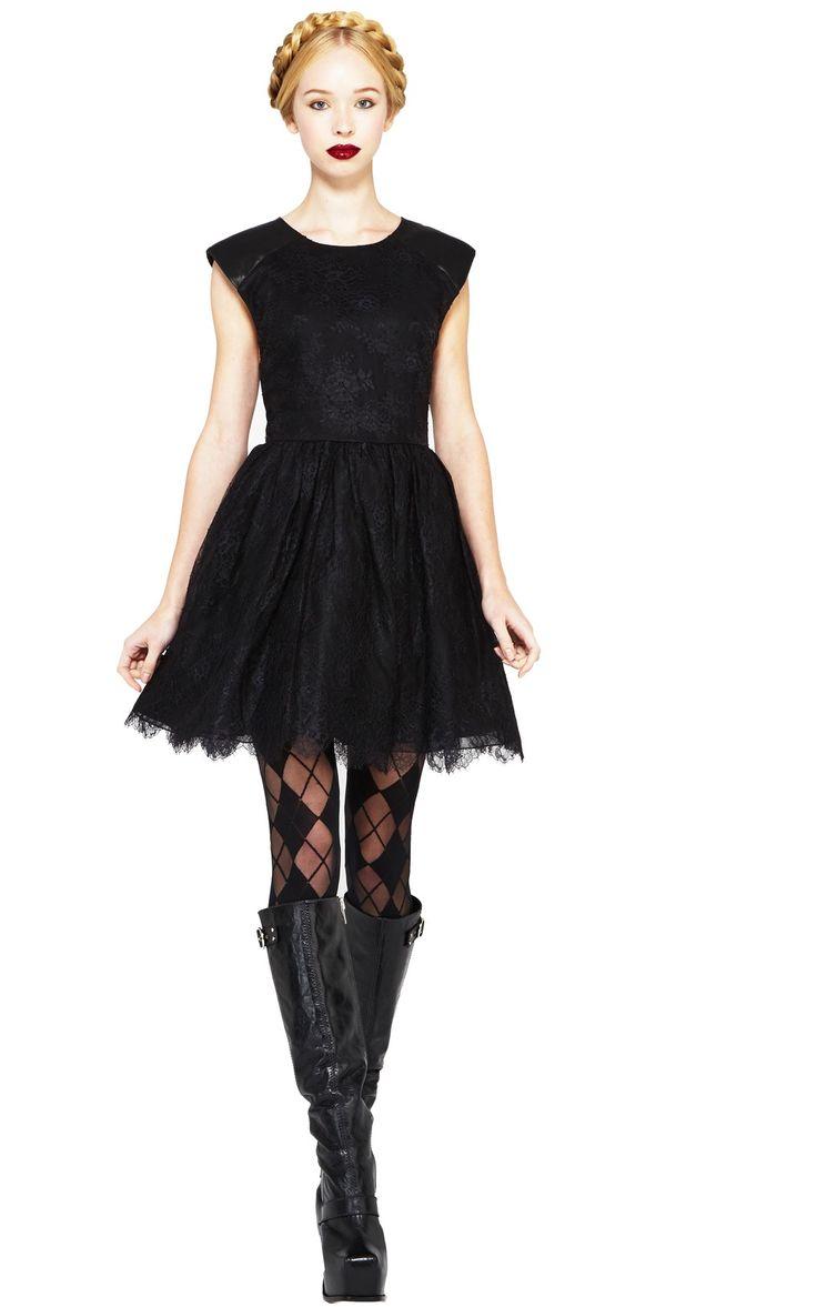 SHELLY LEATHER DETAILED BOATNECK MINI DRESS - Il vestito ce l'hai già!