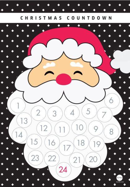 Llegó Diciembre, y con éste la ¡cuenta atrás para navidad!. Os proponemos una manualidad muy divertida para hacer en casa con los más pequeños: un calendario de adviento con la barba de Papá Noel p…