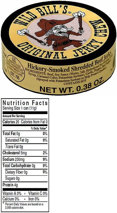 Buffalo Beef and Turkey Jerky 115716: Wild Bill S 0.38Oz Hickory Smoked Shredded Beef Jerky Chew (12 Cans Of Beef J... -> BUY IT NOW ONLY: $300 on eBay!