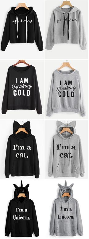 Up to 68% OFF! Front Pocket Letter Graphic Cat Hoodie. #Zaful #hoodies Zaful,zaful sweater,zaful outfits,fashion,style,tops,outfits,blouses,sweatshirts,hoodies,cardigan,sweater,cute sweatshirt,floral hoodie,cropped hoodies,pearl sweatshirt,fall,winter,winter outfits,winter fashion,fall fashion,fall outfits,Christmas,ugly,ugly Christmas,Thanksgiving,gift,Christmas hoodies,Black Friday,Cyber Monday @zaful Extra 10% OFF Code:ZF2017