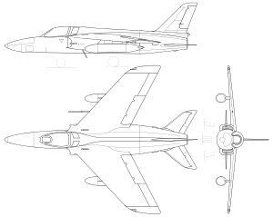 Folland Gnat Mk I.svg