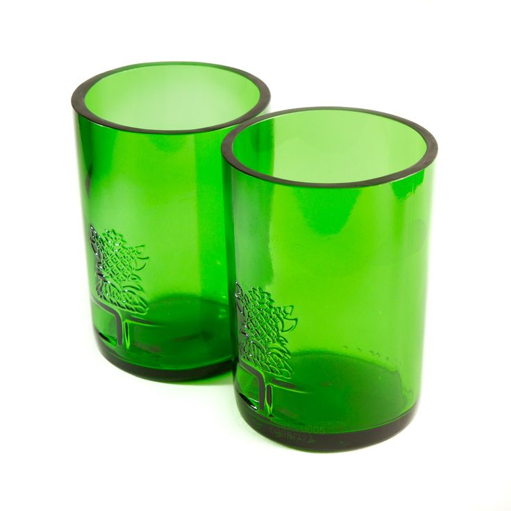Green Tanq Tumblers [Set of 2] from TWICE DRUNK - These absolutely stunning glasses are pure heaven to drink from and they look incredible! The original Tanqueray emblem sets them apart and the vibrant Emerald Green colour is truly impressive. Available to buy now at www.TwiceDrunk.com.