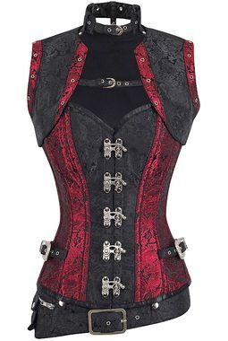 This authentic corset is great for steampunk cosplay or a night out on the town! Pair it with our fabulous skirts and heels for a complete look. Longer style for longer torsos 10 spiral steel bones, 6
