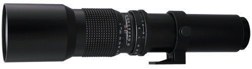 BOWER 500mm Preset Telephoto Lens with 2x (1000mm total) for NIKON dSLR D40,D40x,D50,D60,D70s, D80,D90,D3100, D5000, D5100,D7000