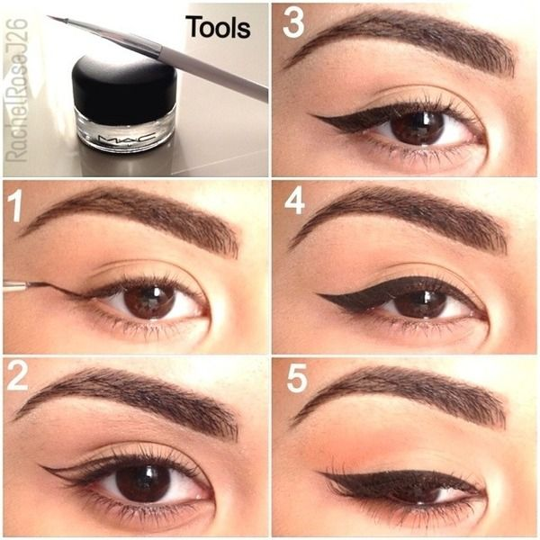 Winged Eyeliner pictorial. I can always do one eye perfectly. The other eye generally looks like it belongs on someone else's face