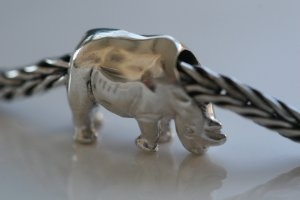 A lovely silver Rhino from Wild-Beads. You can find this cute Rhino on www.beads4love.com