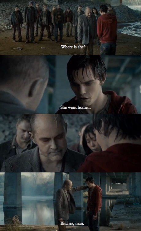 Warm Bodies! Loved this movie!! It was funny and also romantic in such a different way