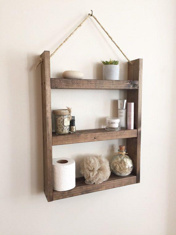 Large bathroom shelf  kitchen shelf  spice by NorthernOaksDecorCo