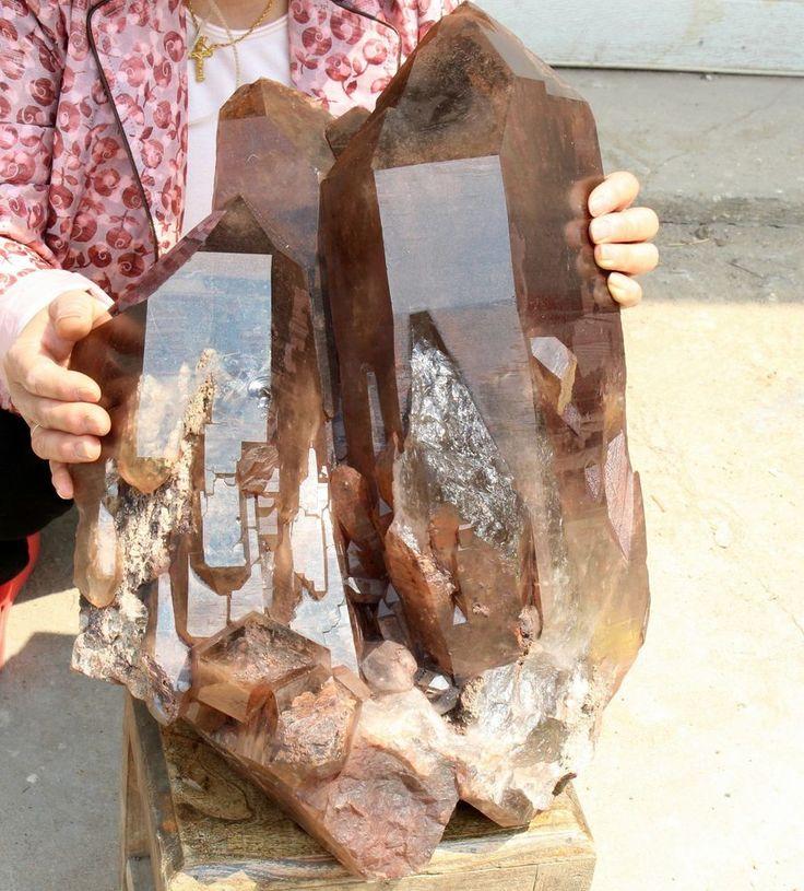 88lb Rara Natural esquelético espécimen de cristal de Cuarzo Ahumado Rutilado De Titanio | Objetos de colección, Rocas, fósiles y minerales, Muestras de cristales y minerales | eBay!