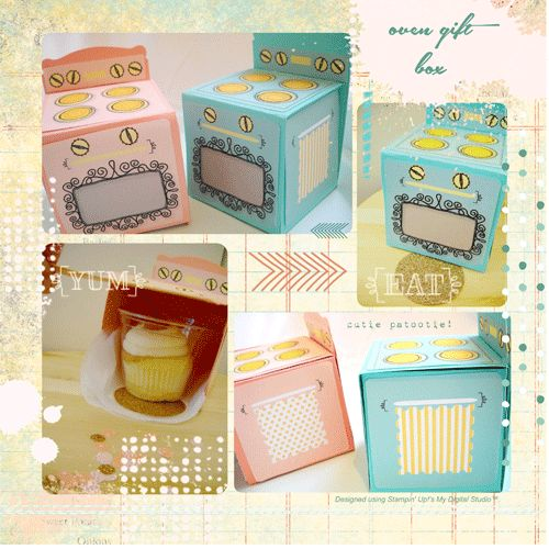 Here's a fun tutorial on how to make these adorable gift boxes. #stampinup #giftbox #handmade #papercraftingGift Boxes, Cupcakes Ideas, Stampinup Com, Cupcakes Boxes, Gift Ideas, Stampin Up, Ovens Boxes, Boxes Ovens, Cupcakes Gift