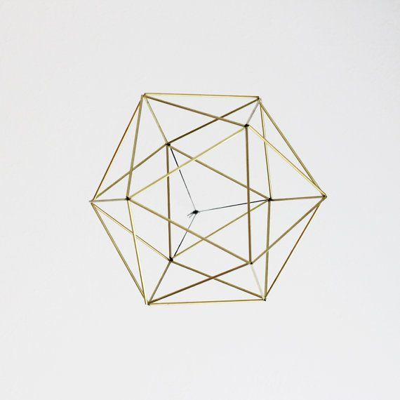 Orb Himmeli / Modern Hanging Mobile / Geometric Art by HRUSKAA