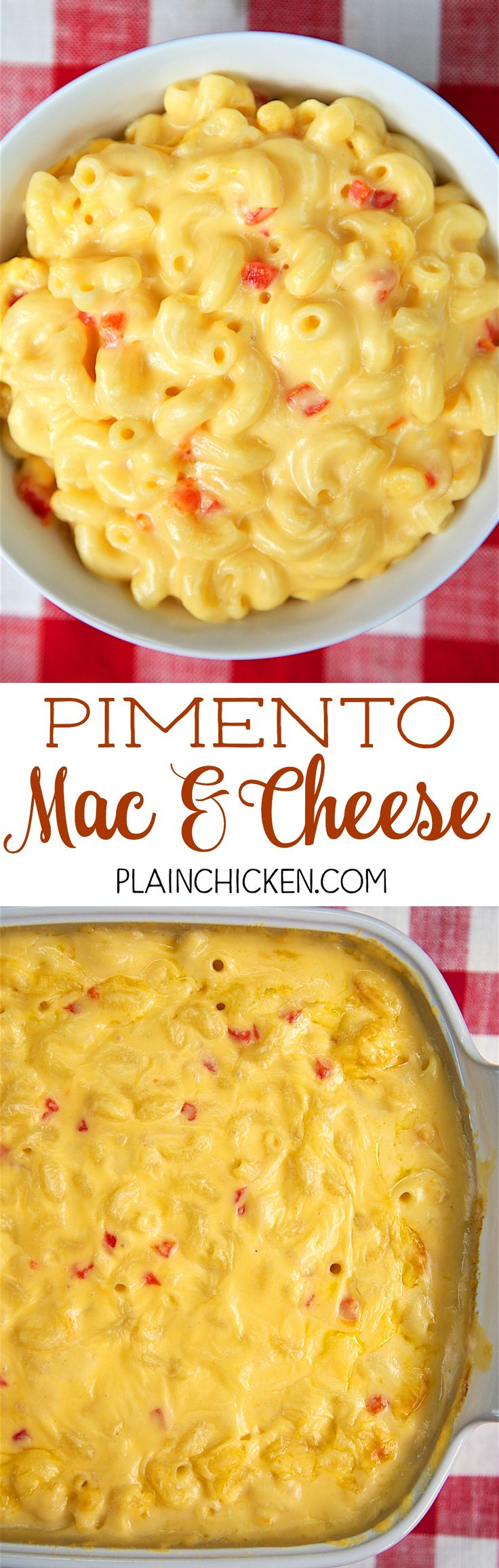 Pimento Mac & Cheese - copycat recipe from Hattie B's Hot Chicken in Nashville. This stuff is SO good! Super creamy and delicious. Tastes just like the original! Great for a cookout!