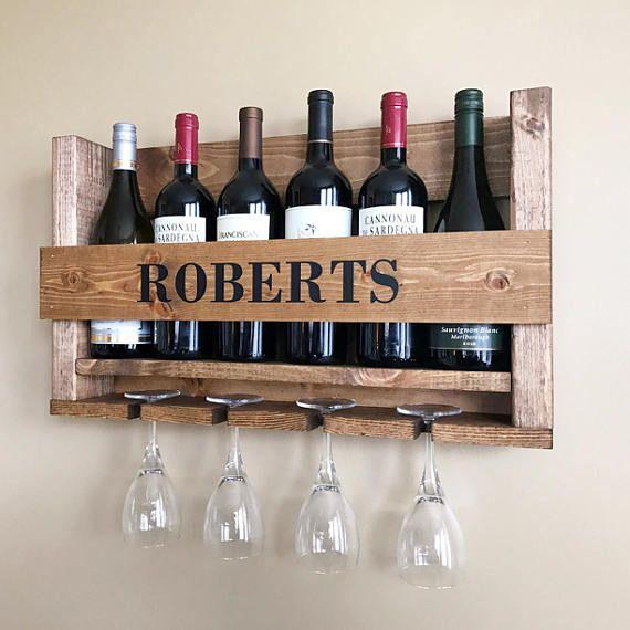 Wooden Wine Rack Housewarming Gift Realtor Closing Gift