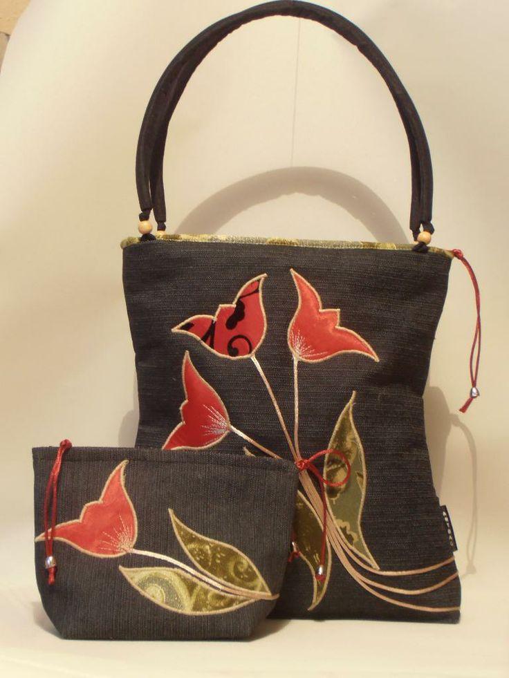 Custom-designed bag with tulips II hungarian design product