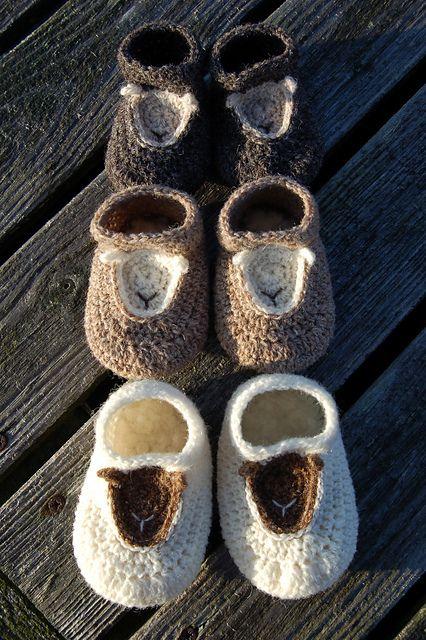 Sheepskin Smucks pattern by Jane Outram