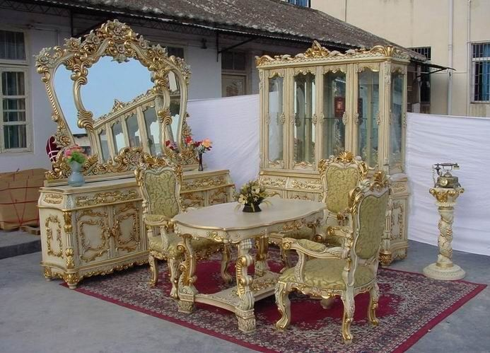 Antique Replica French Style Dining Room Furniture Set With X 500 Px