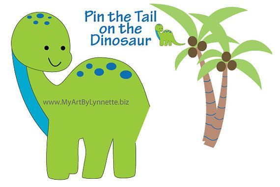 Pin the Tail on the Dinosaur Birthday Party by MintMonkeyDesign, $6.99
