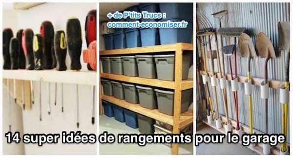 Fini le bazar ! Vous allez voir tout va trouver sa place avec ces 14 super idées de rangement pour le garage :-)  Découvrez l'astuce ici : http://www.comment-economiser.fr/14-super-idees-de-rangements-pour-le-garage.html?utm_content=buffer514c5&utm_medium=social&utm_source=pinterest.com&utm_campaign=buffer