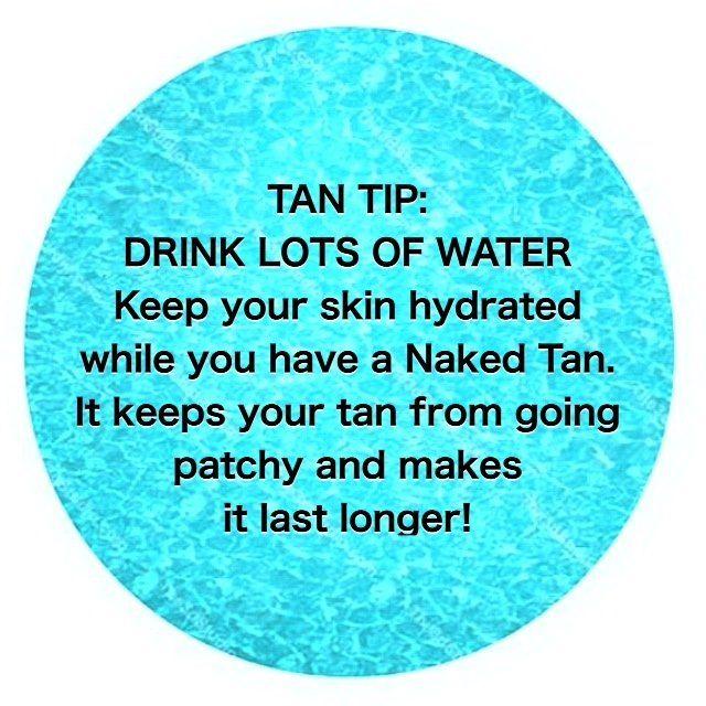 TAN TIP!  ~ #AllThingsTanning #NakedTan #TanTip