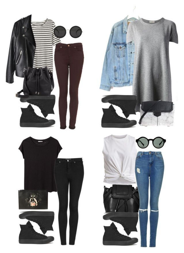 cute outfit with black converse