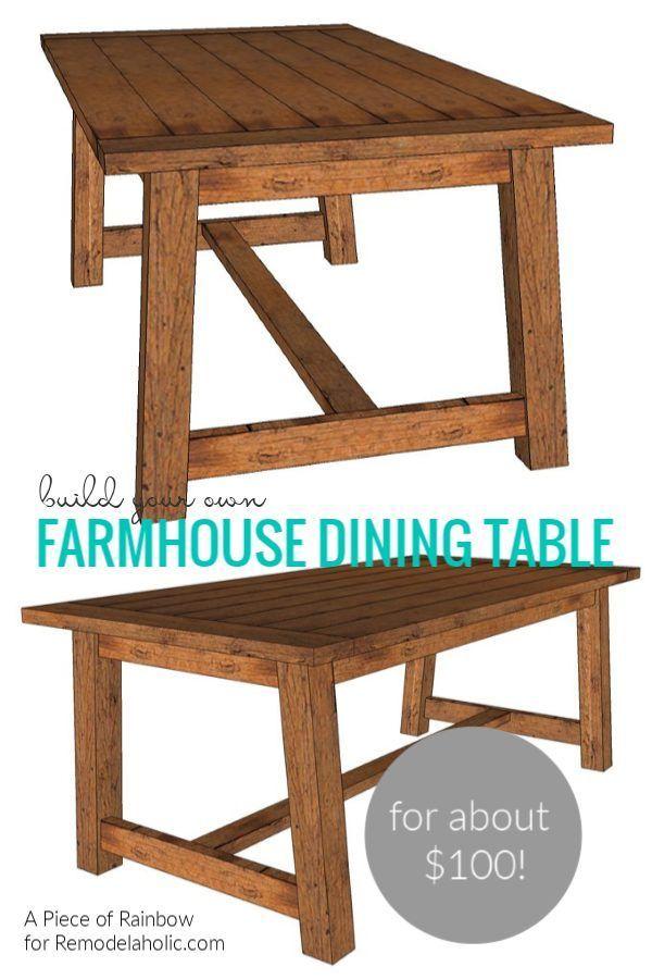 Build A Farmhouse Dining Table In 2020 Farmhouse Dining Table Farmhouse Dining Farmhouse Dining Room Table