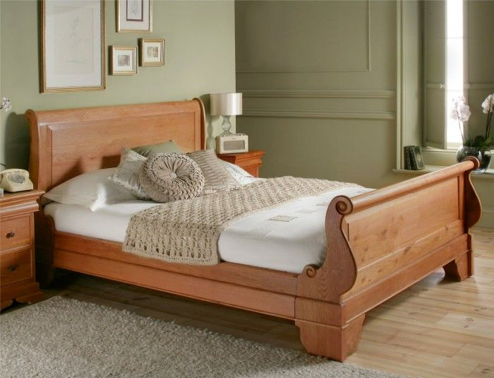 toulouse oak wooden sleigh bed - Sleigh Bed Frames