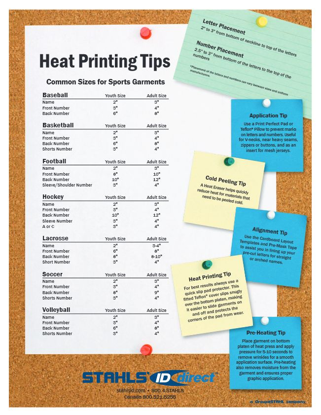 for more heat printing tips visit wwwstahlscomdesign placement