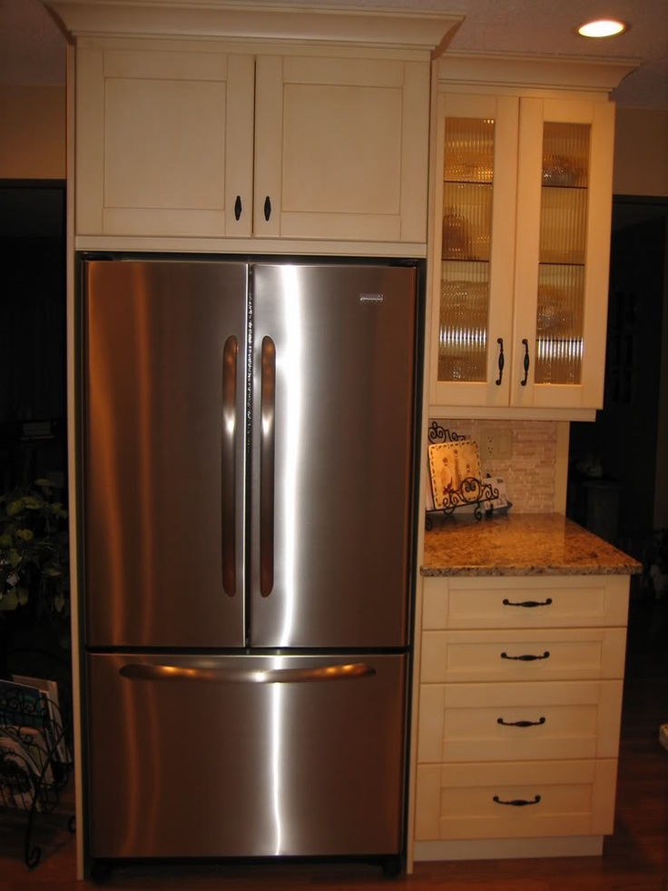 1000 images about kitchen on pinterest giallo for Kitchen remodel refrigerator