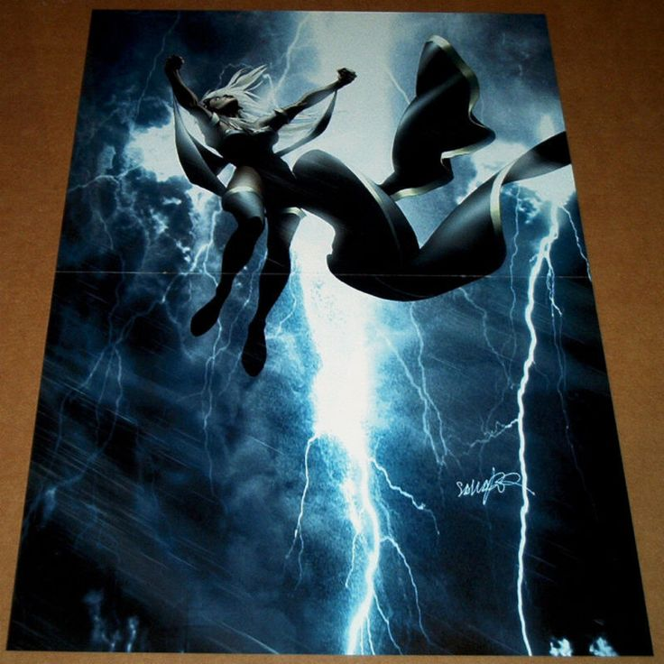 hart and sole chrome hearts STORM UNCANNY X MEN  487 MARVEL COMIC BOOK POSTER XMEN LIGHTNING MUTANT MASSACRE
