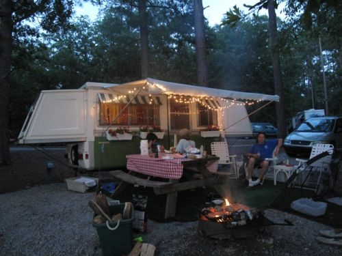 1975 Apache Pop Up Camper Love This And The Set Up