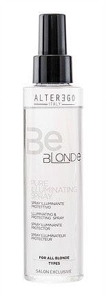 Pure Illuminating Spray beschermt blondtinten, geblondeerd of gehighlight haar. Verrijkt met eco-gecertificeerde Active Shine Complex en HydraHair plus een zonnefilter. Beschermt en herstelt het haar en geeft glans zonder het haar te verzwaren.