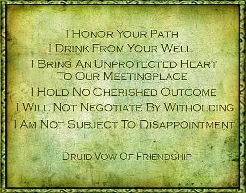 Celtic (Druid) vow of friendship.  Everyone needs friends like this...so glad I have them!