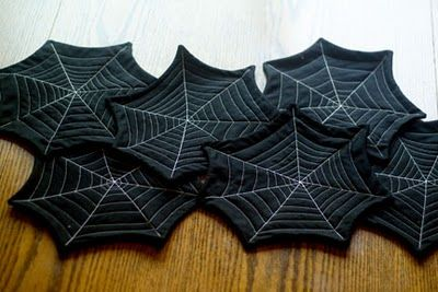 Spiderweb runner or a set of coasters