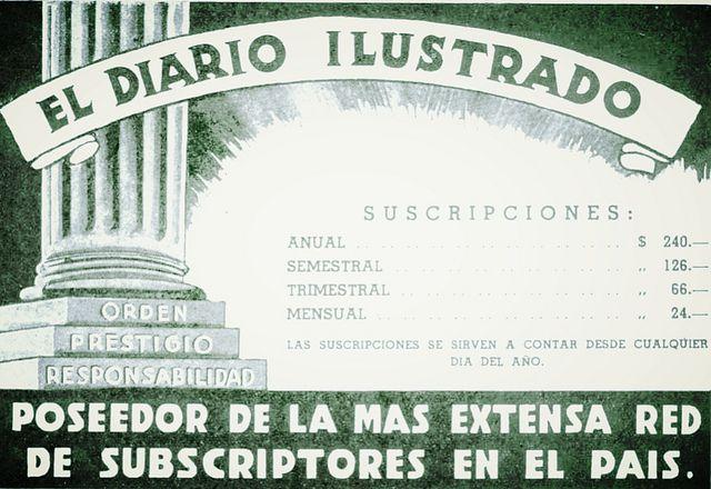 DIARIO ILUSTRADO, publicidad de la Revista En Viaje by santiagonostalgico, via Flickr