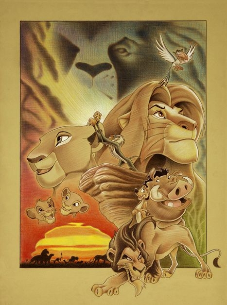 Circle of Life - by Ben Curtis Jones giclee on canvas