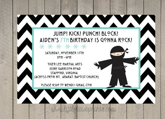 28 best Michelle 7th birthday images – Martial Arts Birthday Invitations