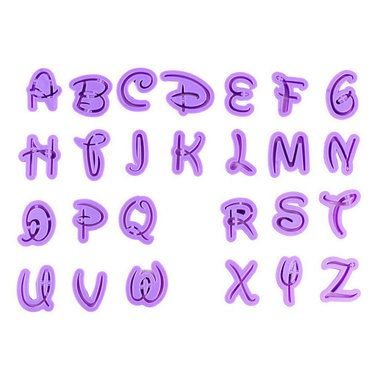 disney font letter alphabet cutter cutouts cookie cutter set high quality cutters