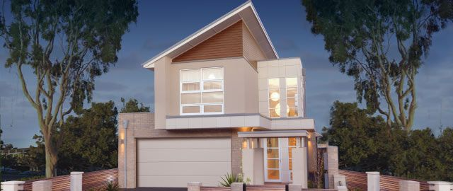 The Sheridan – from the Weeks Peacock Homes Urban Style Range. This clever urban design makes the most of the space available on a 10 meter wide block.