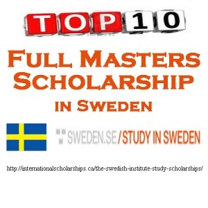 Study in Sweden with Tuition Free Masters Scholarship