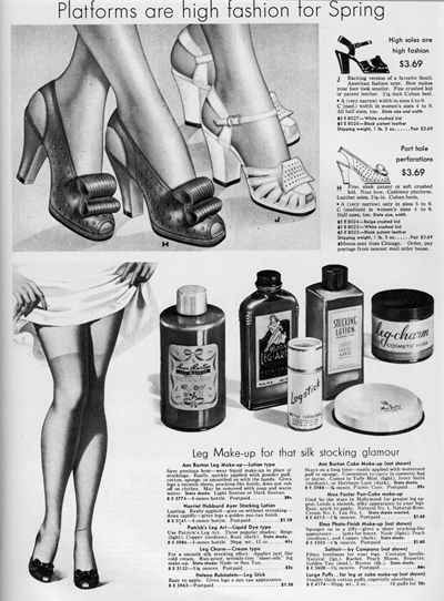 Image result for make up for legs in the 1940s and 1950s