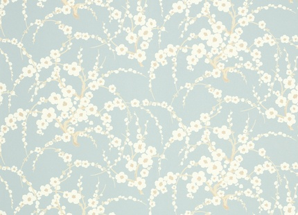 Like the tender duck egg blue and hint of oriental floral.