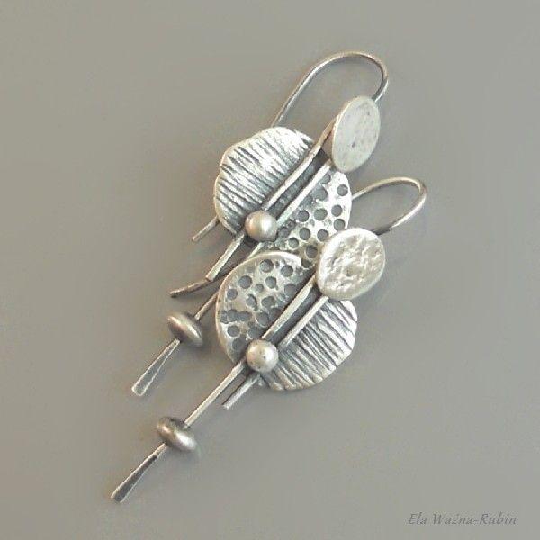 awangardowe,artystyczne,kolczyki,ela rubin - Kolczyki - Biżuteria w ArsNeo
