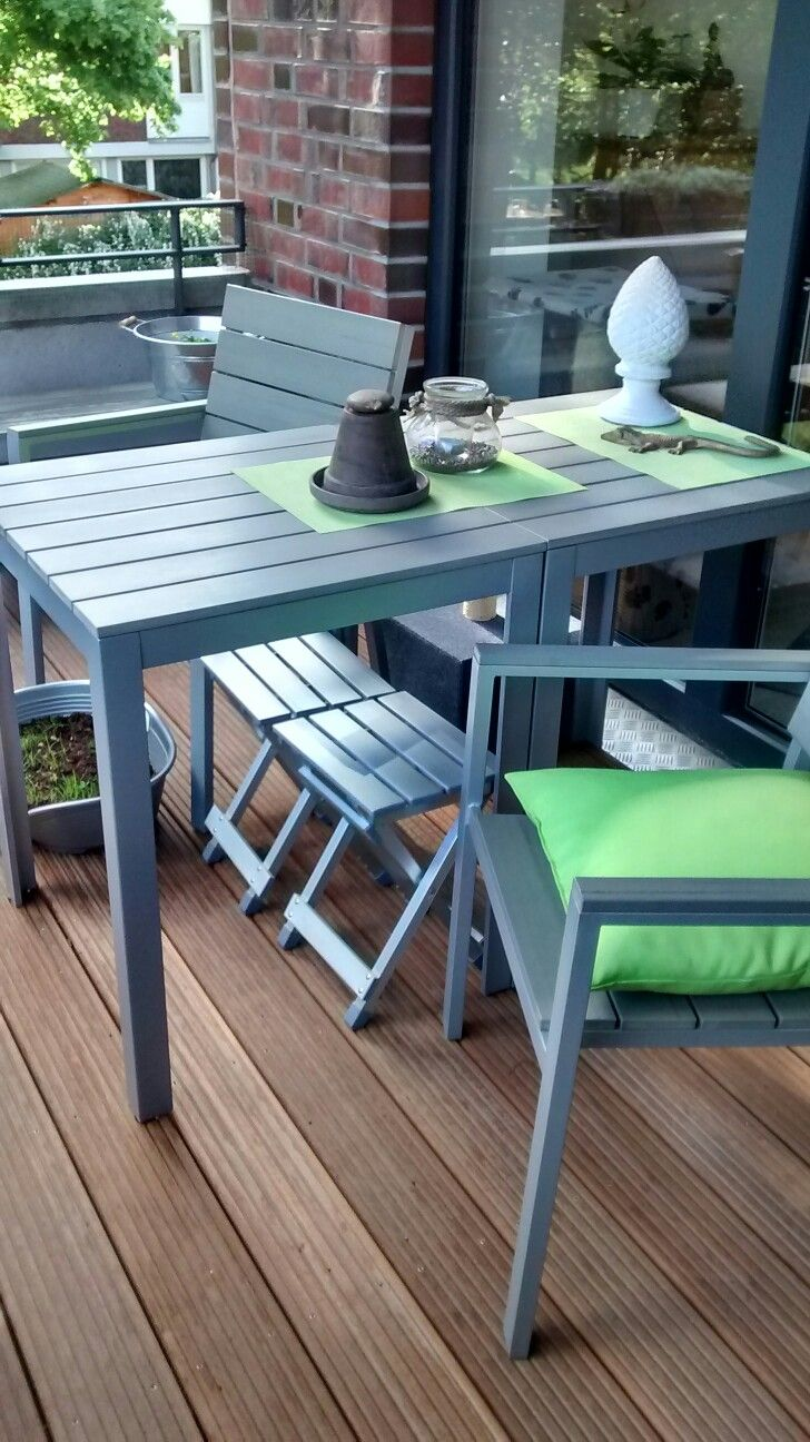 Amazing Balkon In Graugrn Ikea Falster With Ikea Falster Table With Ikea  Utembler With Ikea Falster Table.