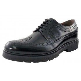 Scarpa brogue - NeroGiardini Uomo #scarpe #uomo #brogue #madeinitaly #verapelle #black @NeroGiardini