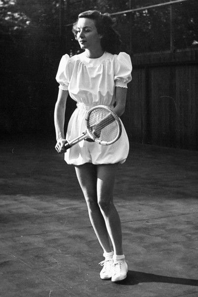 Classic Tennis Whites. Joan Perry, 1940's.