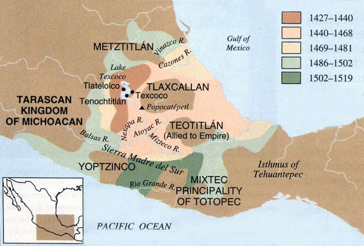 The Aztecs made many conquests and expanded their territory tremendously throughout their reign.