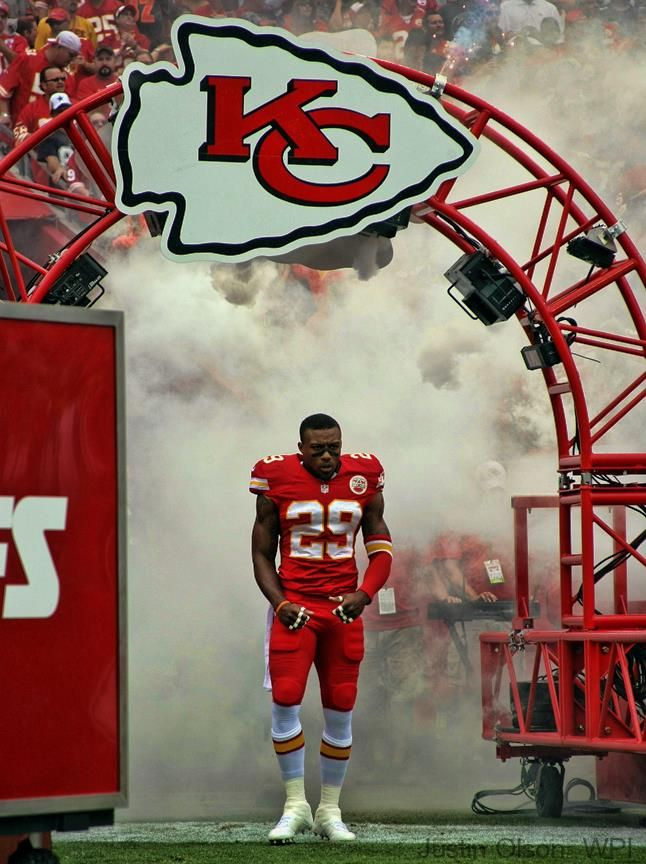 Eric Berry, September 15, 2013, Chiefs home opener. The Chiefs wore red pants with red jerseys for the first time in franchise history. They looked great beating the Cowboys 17-16.